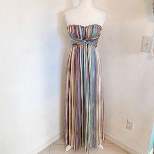 Jessica Simpson Multicolored Strapless Maxi Dress